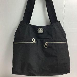 Baggallini black nylon shoulder bag and coin purse